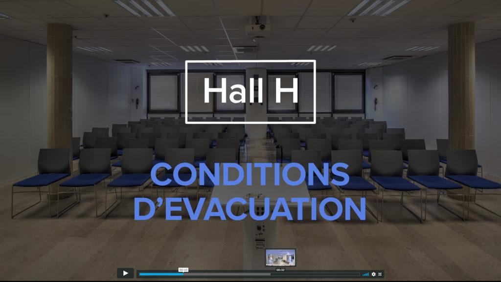 Screenshot du film conditions d'évacuation chez thales